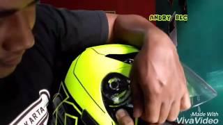 Cara melepas/ memasang kaca helm KYT K2 Rider