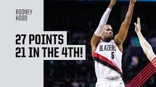 Rodney Hood (27 points) Highlights vs. Charlotte Hornets   March 3, 2019