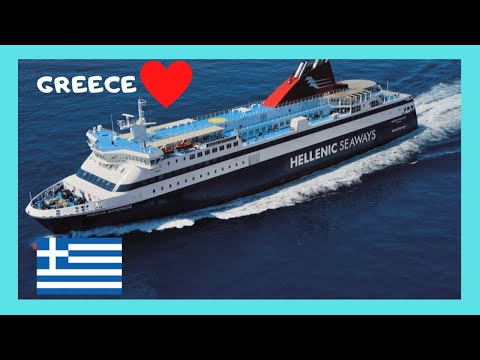 Island of LESBOS: Huge, 🛳️ brand new ferry departing at suns
