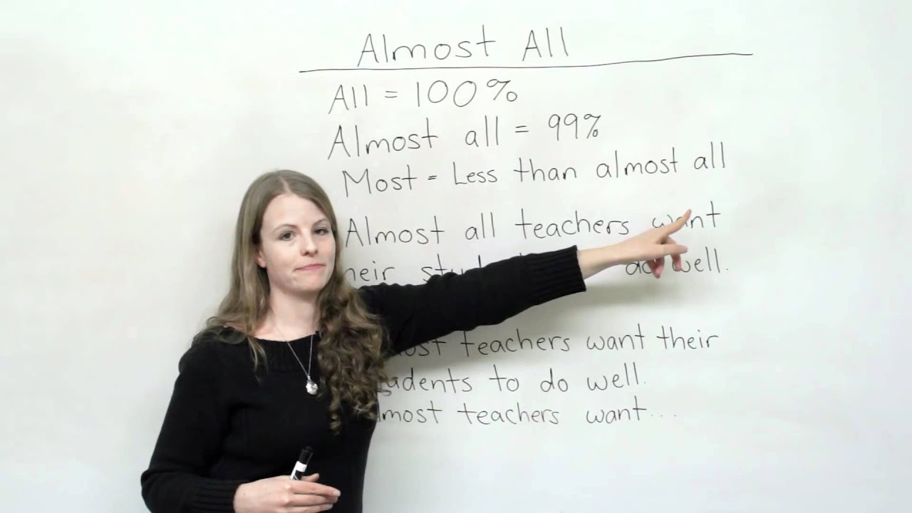Basic English Grammar - MOST, ALMOST, or ALMOST ALL?