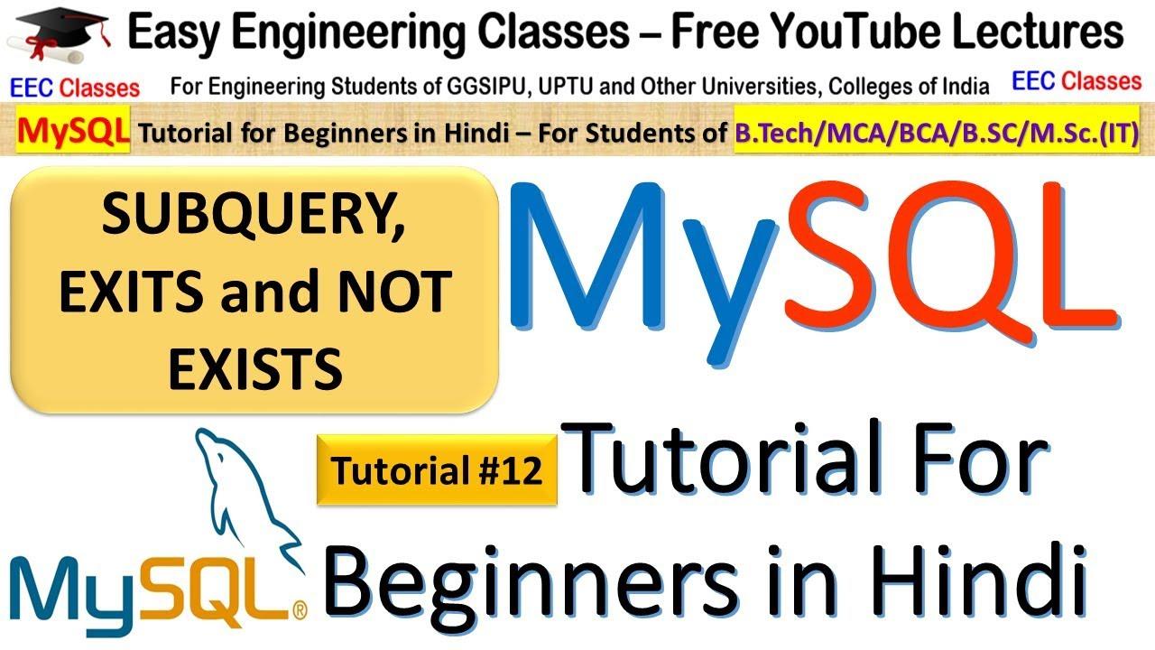 Beginners mysql database tutorial 1 # download, install mysql and.