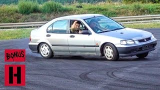Piotr Wiecek and Danger Dan Give Stock Honda Civic A Beating!