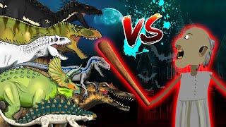 Dinosaurs Battle   Granny VS Jurassic World  Dinosaurs   Horror Story-Granny Animation (02)