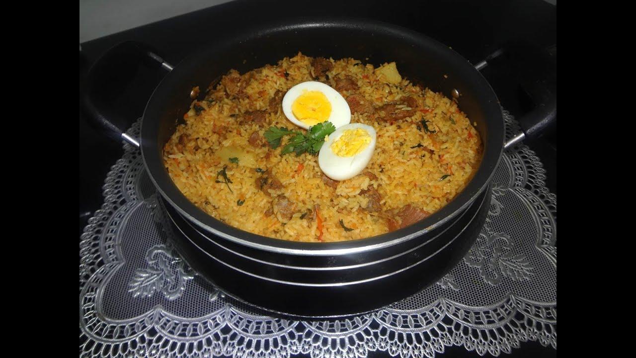 Hyderabadi tahari recipe authentic mutton tahari youtube forumfinder Image collections