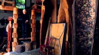 Brzezinski transforms trees into art with a chainsaw