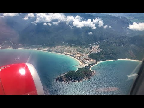 FLIGHT FROM HCMC SAIGON TO NHA TRANG CAM RANH AIRPORT WITH A-320 VLOG 06 / VIETNAM TRAVEL MARCH 2018