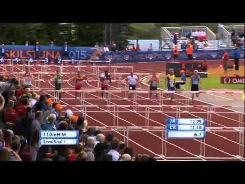 2015, Matthew Behan, 110mH SF, European Junior Championships