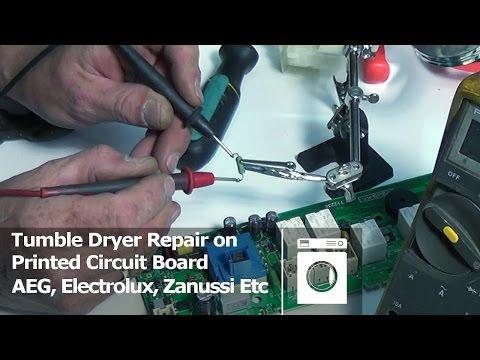 Printed Circuit Board Repair Tumble dryer AEG, Electrolux, Zanussi Etc