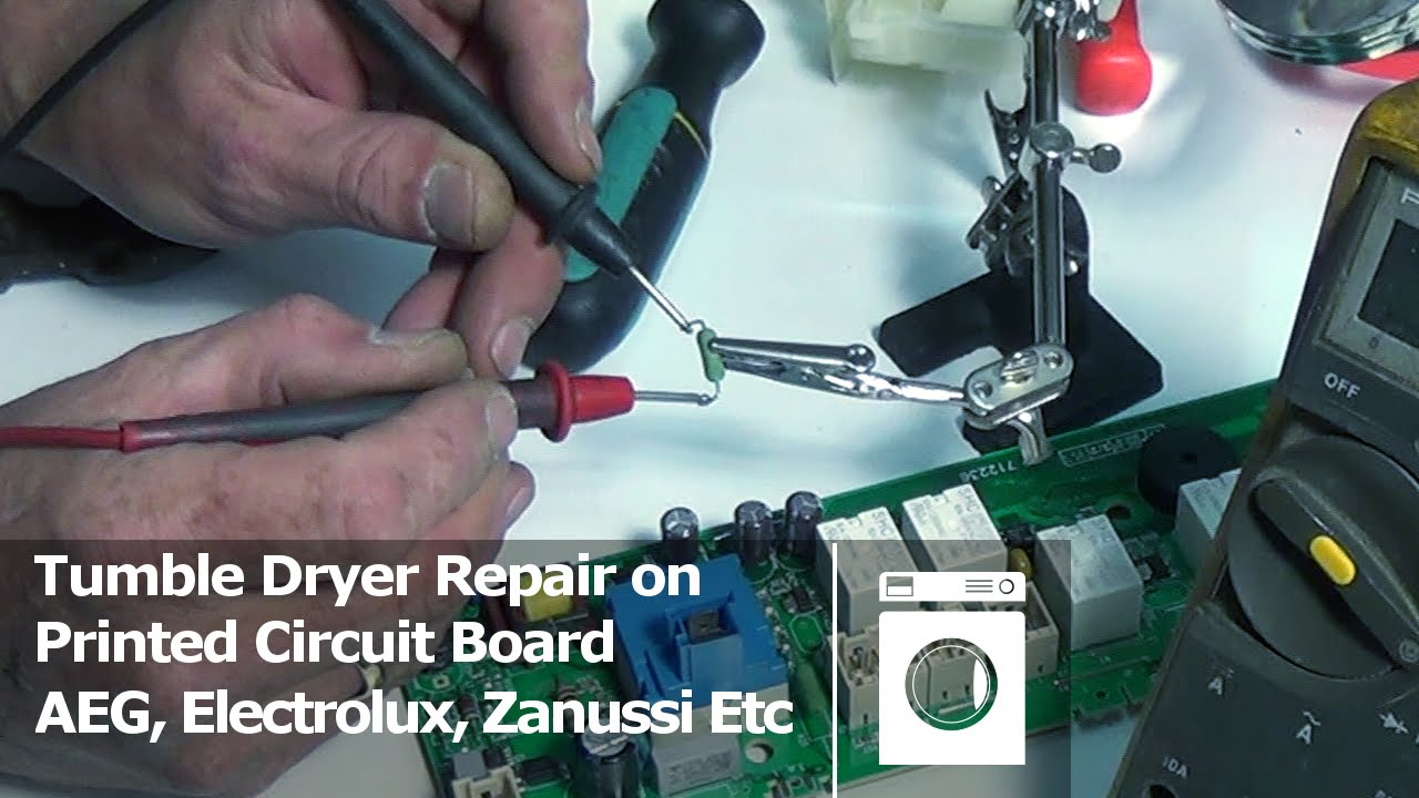 electrolux dryer wiring diagram relay 4 pin printed circuit board repair tumble aeg zanussi etc youtube