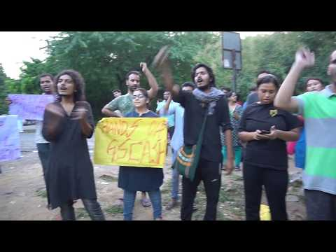 JNU students stand in solidarity with BHU students movement