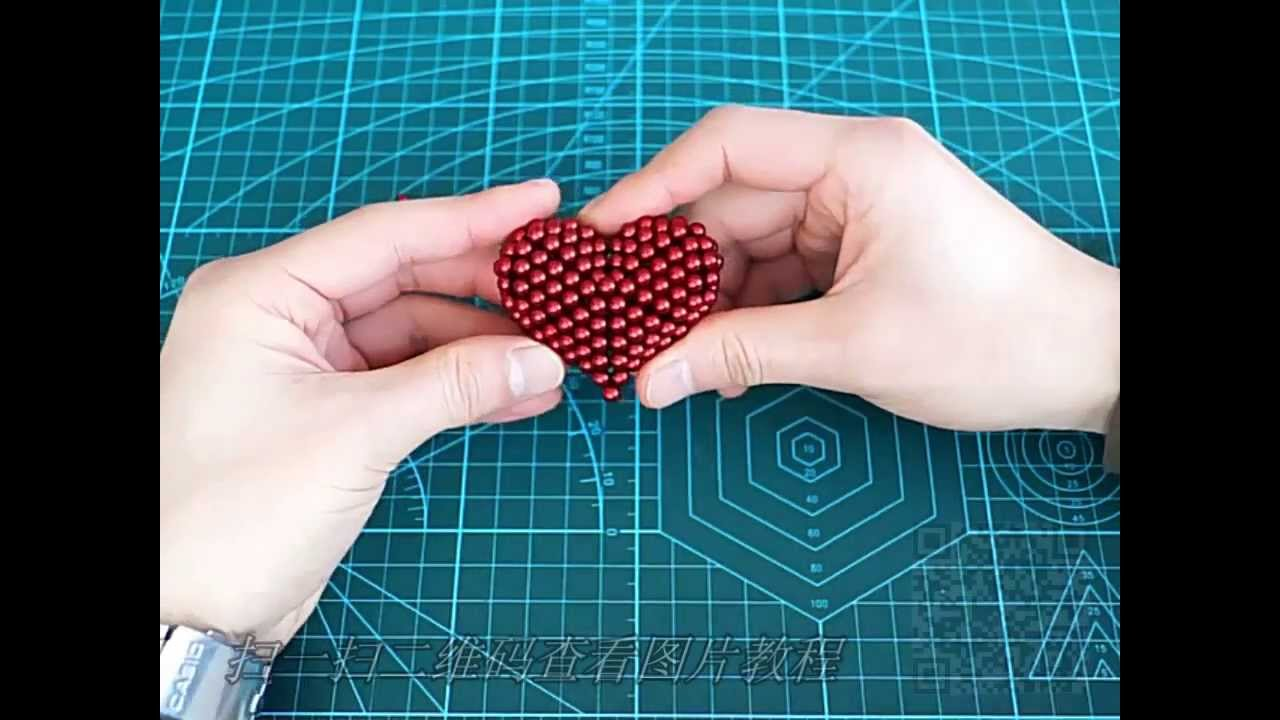 TUTORIAL A heart-1set ( Zen Magnets, Neoballs, Buckyballs, Nanodots, Neocube)
