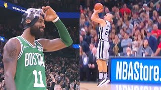 Kyrie Irving Gets Schooled By Manu Ginobili! Manu Ginobili Game Winner vs Celtics! Celtics vs Spurs