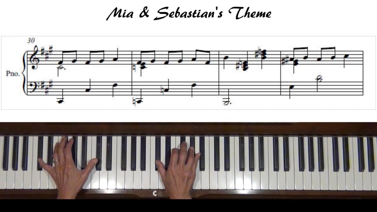 mia sebastian 39 s theme la la land piano tutorial youtube. Black Bedroom Furniture Sets. Home Design Ideas