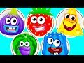 Fun Baby Learn Colors Kids Game - Kids Learn Matchup With Funny Food 2 - Kids Learning Video
