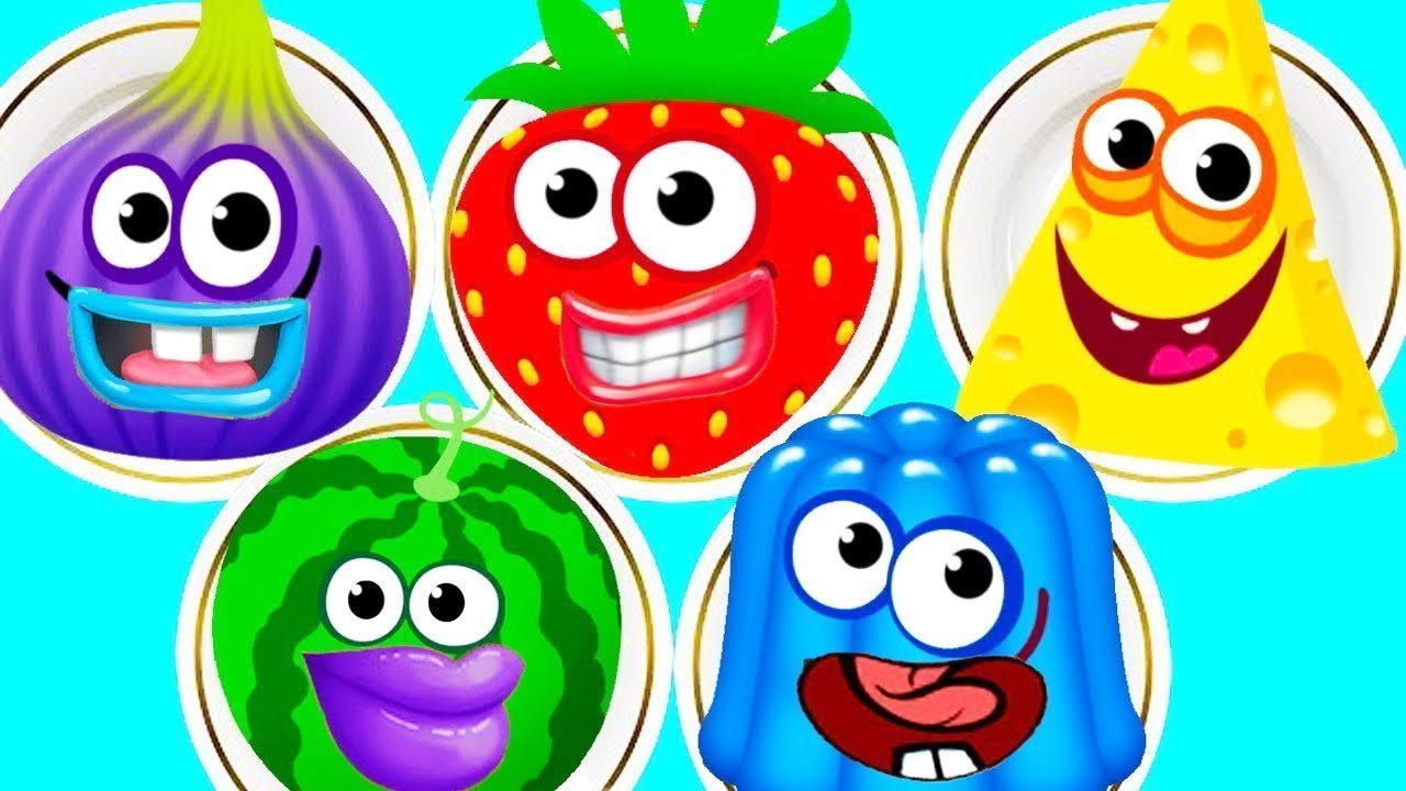Game to learn colors - Fun Baby Learn Colors Kids Game Kids Learn Matchup With Funny Food 2 Kids Learning Video