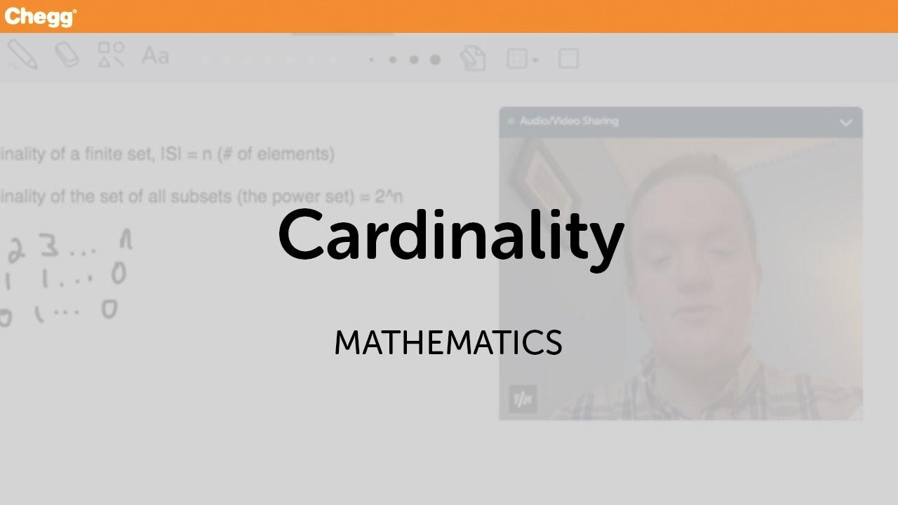 Cardinality   Math   Chegg Tutors