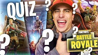 QUIZ ON FORTNITE! How much do you know about FORTNITE BATTLE ROYALE??