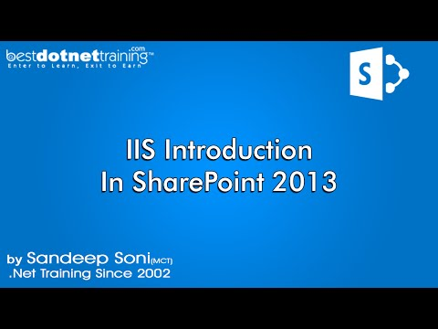 Part 1 -  IIS introduction  - SharePoint  Tutorial for beginners (2013)