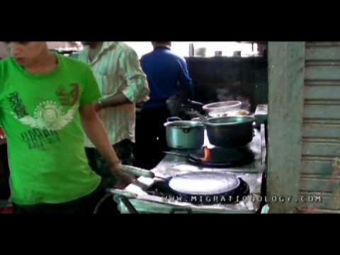 Street Food Eating in Bangkok's Little India (Pahurat), Thailand