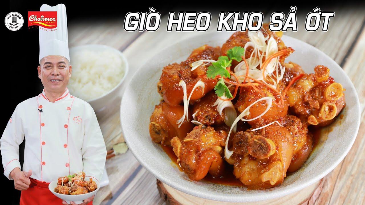 Cách làm Giò Heo Kho Sả Ớt thơm ngon đậm đà cho bữa cơm hấp dẫn