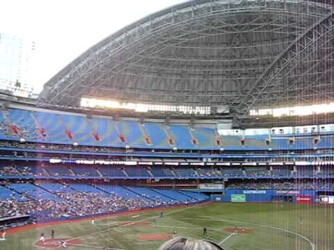 Opening Of The Skydome Roof Time Lapse Youtube