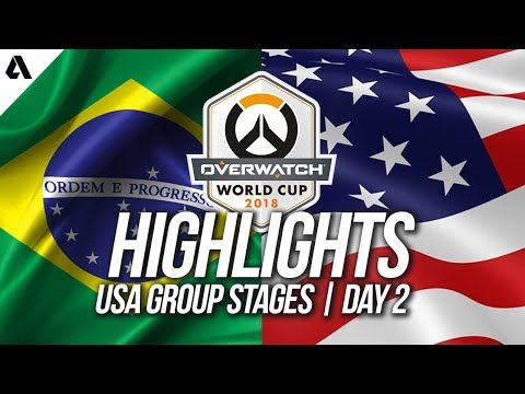Brazil vs USA | Overwatch World Cup 2018 Los Angeles Group Stage Day 2 thumbnail