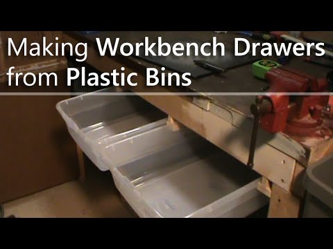 Making Workbench Drawers From Plastic Bins Youtube