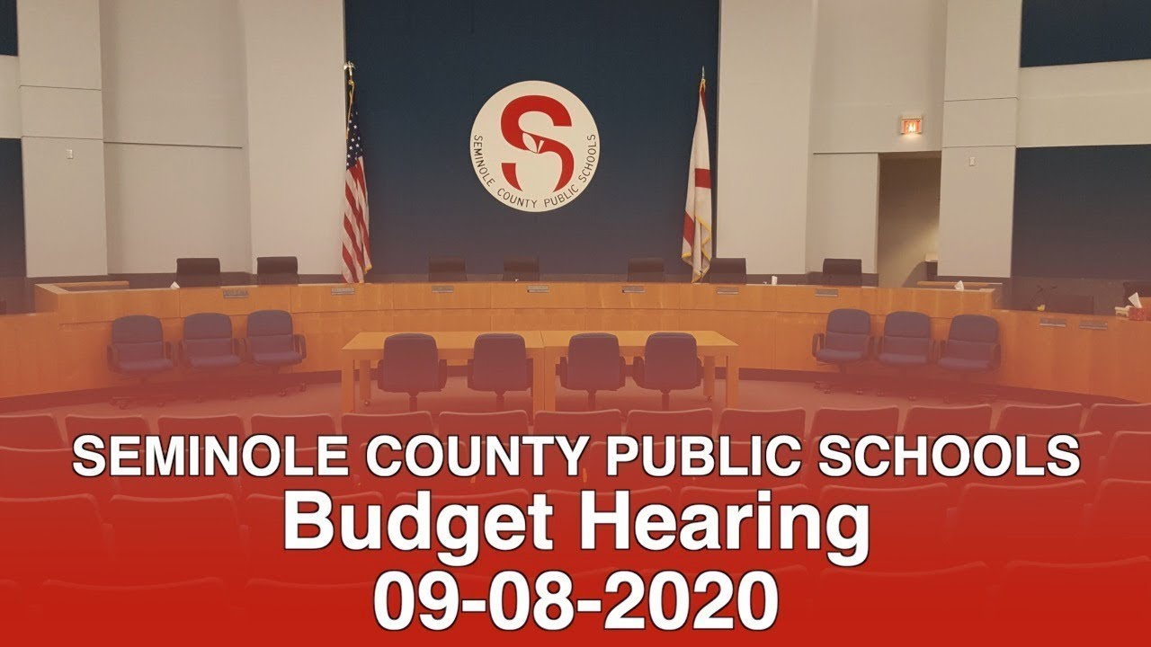 SCPS School Budget Hearing - 09-08-2020