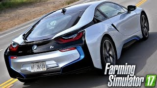 carro bmw i8 a mais de 250 km h top speed   farming simulator 17   pt br