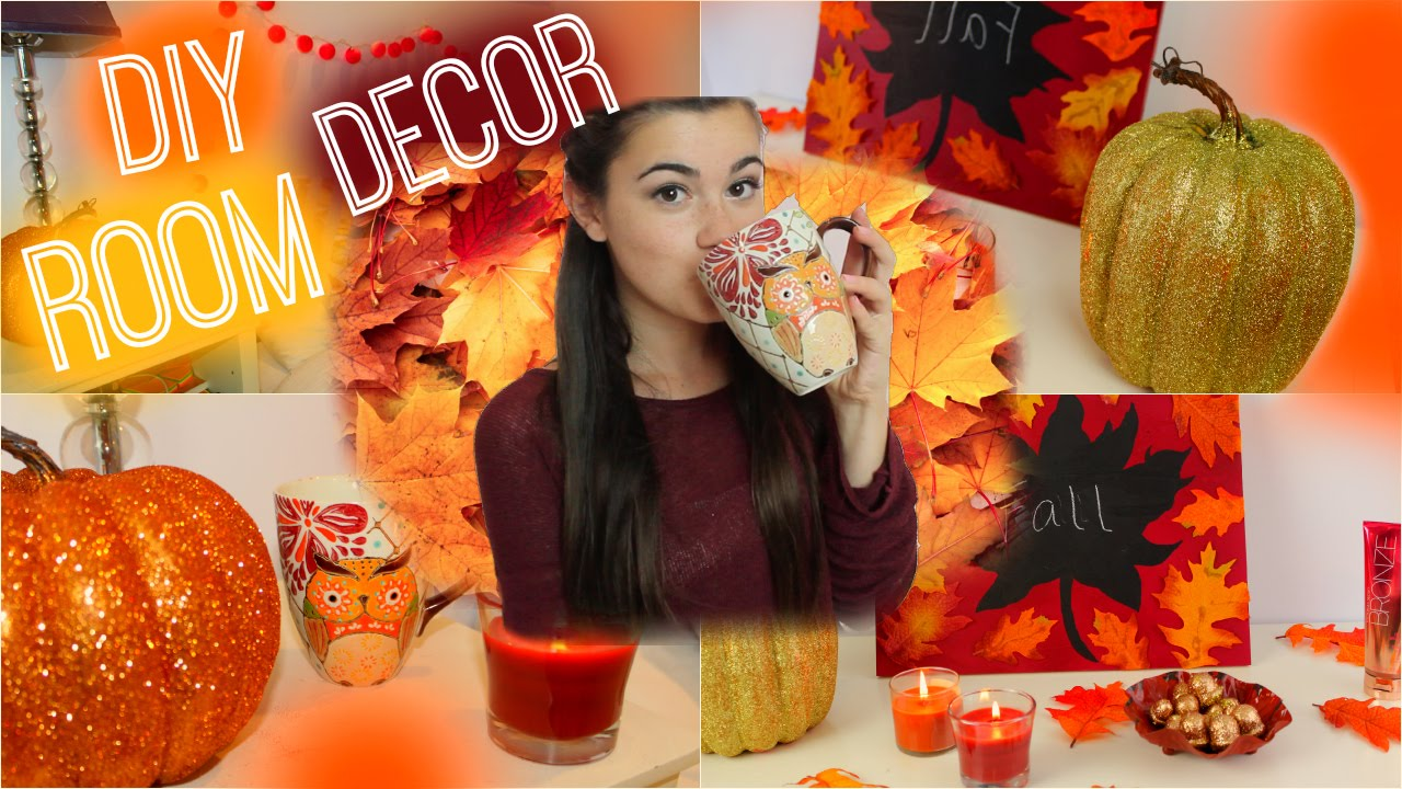 Diy Fall Decor Part - 41: DIY Fall Room Decorations - Spice Up Your Room For Fall! - YouTube
