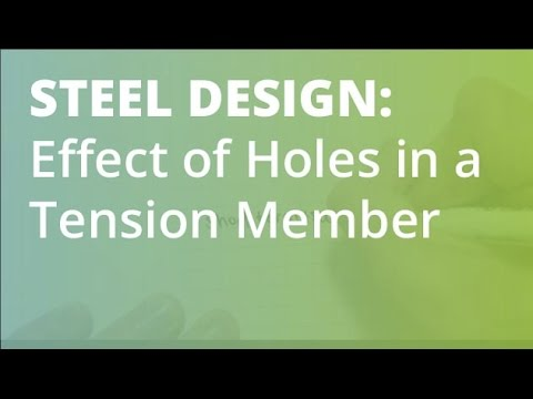 Steel Structural Design: Staggered Holes in a Tension Member