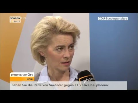 CDU-Parteitag: Ursula von der Leyen im Interview am 15.12.2015
