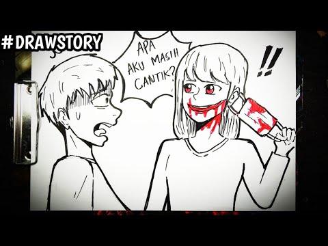 Asal Usul Hantu Mulut Sobek || DRAWSTORY