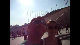 Giramundos explicando sobre o Estádio Olímpico de Atenas na Grécia - www.giramundos.com