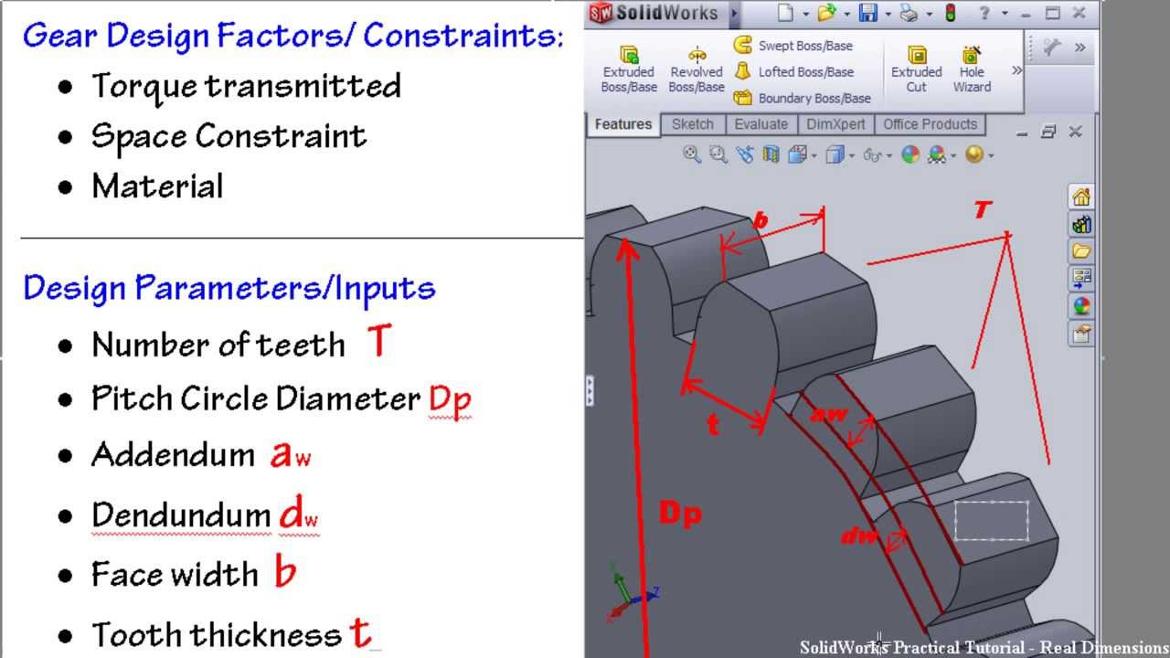 1-SolidWorks GEAR Tutorial: Introduction to prof. Gear