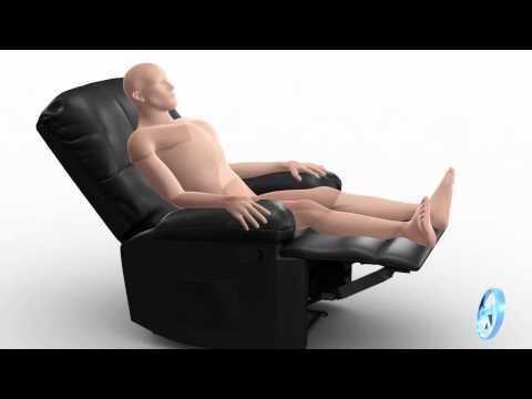 Vídeo do produto Poltrona do Papai Massageadora Reclinável Relaxmedic Preta