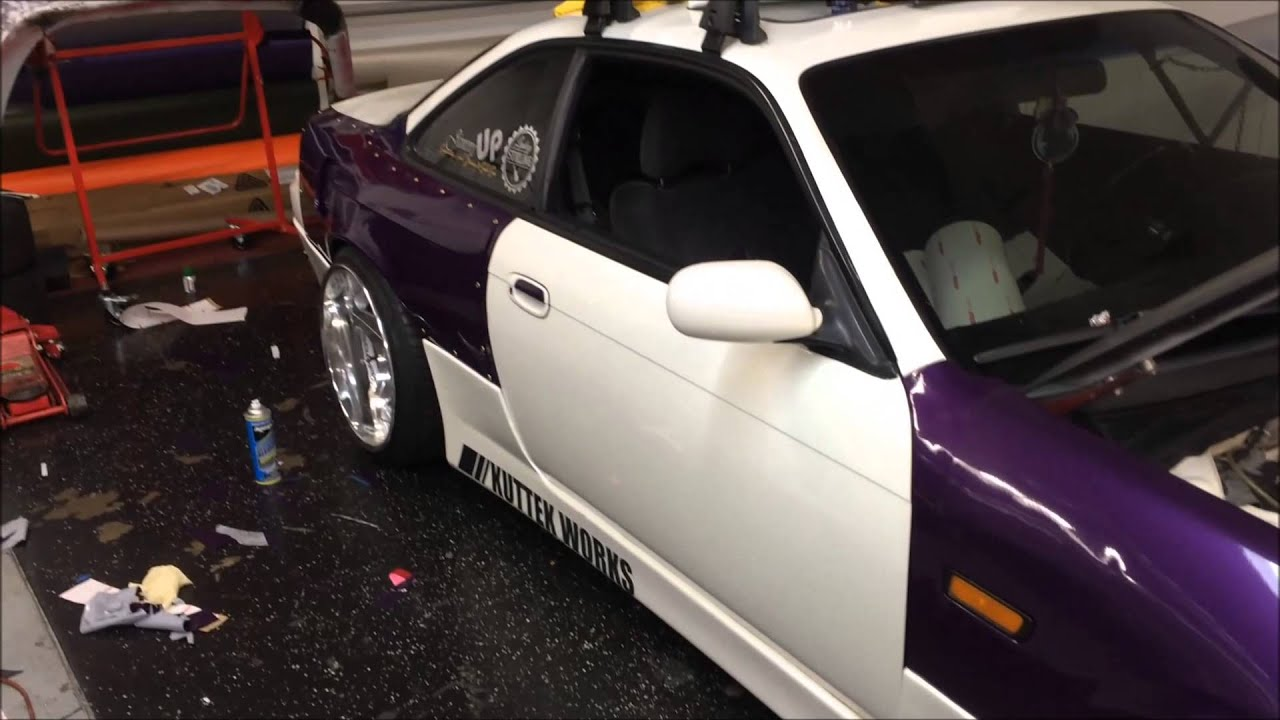 240sx Wrap Arlon Midnight Purple Kuttek Works Youtube