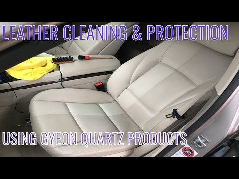 BMW 7 Series Interior Leather Protection Detail - Cleaning and Protection using Gyeon Quartz #004