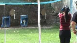 Aika Bairan 1st Shooting lessons Part 2 01-04-13