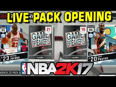 LIVE NBA 2K17 GAME BREAKERS PACK OPENING!