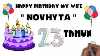 """Video selamat ulang tahun sayang """" NOVHYTA """" download MP3, 3GP, MP4, WEBM, AVI, FLV Maret 2018"""