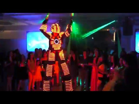 Its Time To Boogie Miami Fort Lauderdale West Palm Beach Hora Loca LED Robots 1 Weddings Parties Cor