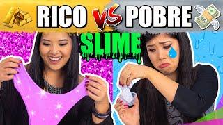 RICO VS POBRE FAZENDO AMOEBA/SLIME | Blog das irmãs