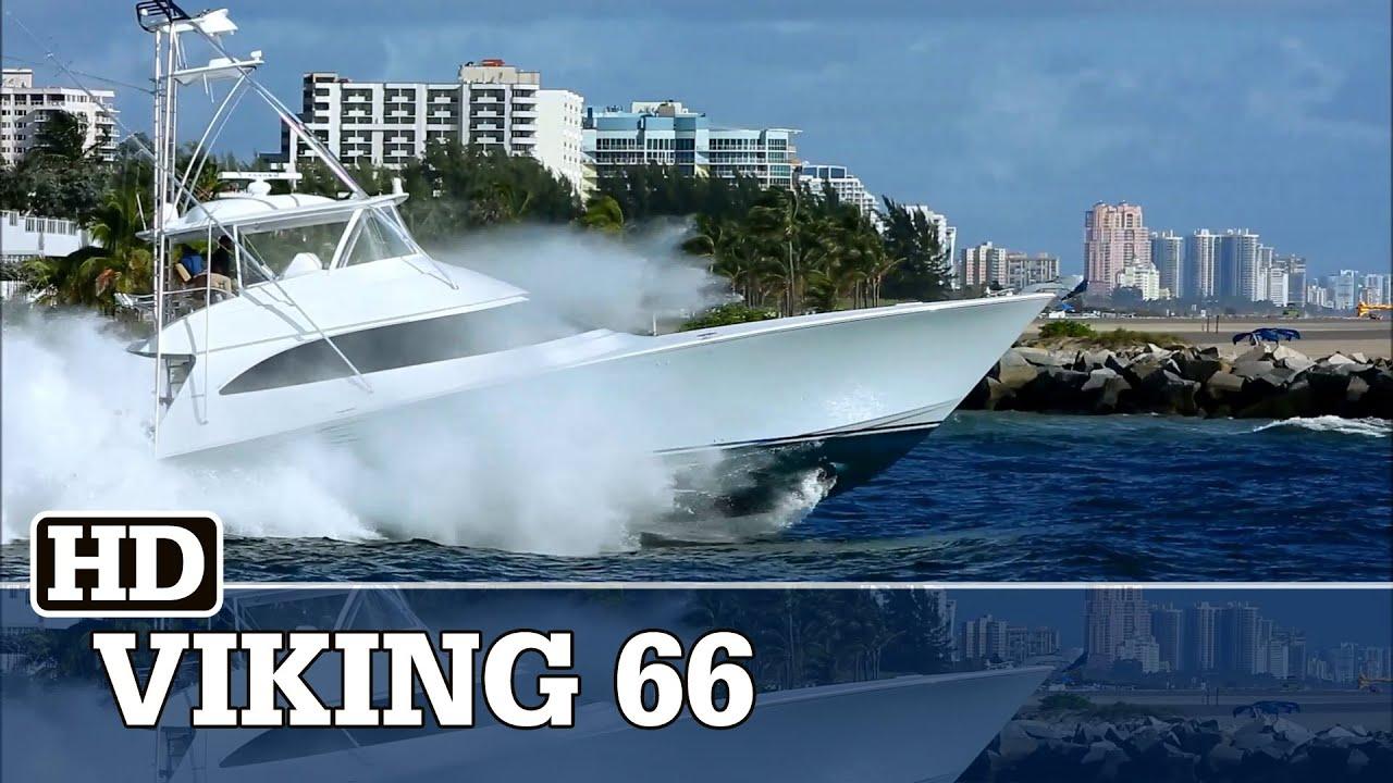 Viking 66 Convertible Running