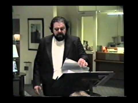 Tenor Carlo Cazals singt Lieder von Franz Schubert Teil 1