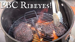 How To Cook Ribeye Steak On The Pit Barrel Cooker | Perfect Cowboy Cut Steak Recipe
