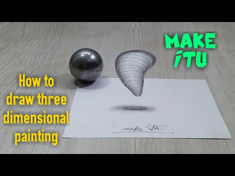 How to draw three-dimensional painting / 3D DRAWING