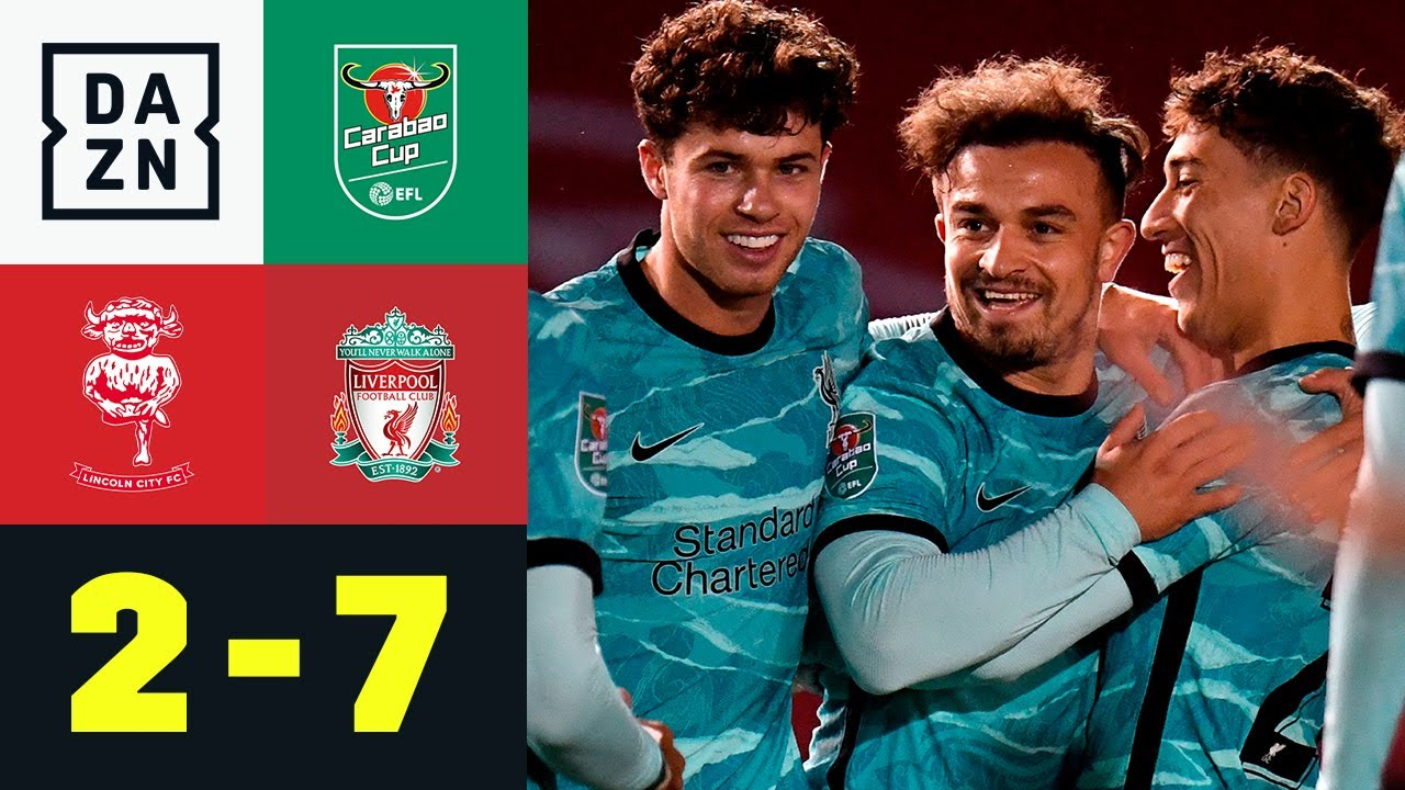 Shaqiri-Knaller leitet Liverpool-Spektakel ein: Lincoln - Liverpool 2:7 | Carabao Cup | DAZN