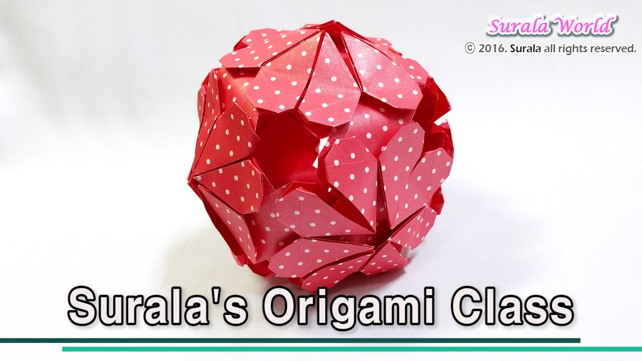 Origami flower ball kusudama ornament youtube mightylinksfo