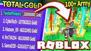I CREATED THE BIGGEST ARMY in ARMY CONTROL SIMULATOR!! *Worth 200 MILLION Gold!* (Roblox)